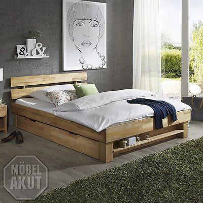 FUTONBETT JUDITH BETT BETTGESTELL IN KERNBUCHE MASSIV GEÖLT 90x200 | Bettgestelle ohne Matratze | Betten