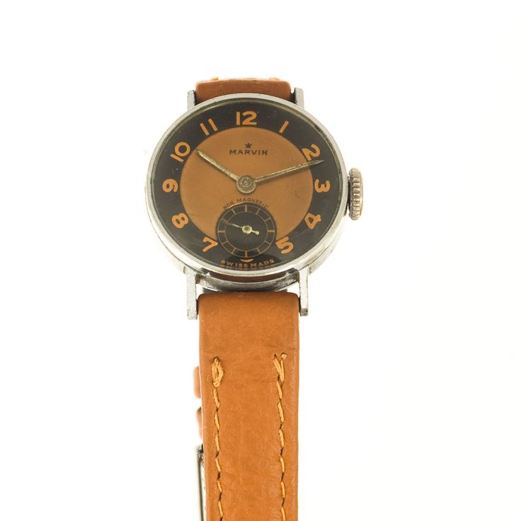 Marvin ladies watch in Bauhaus style - bicolor dial