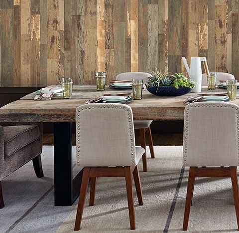 Create Stunning Walls With Laminate Flooring On The Wall. Design Shiplap Or  Pallet Laminate Wood Plank Wall Styles, Colors And Textures, ...