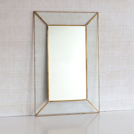 Crystal mirror with metal edge - Mirrors - Decoration | Zara Home United Kingdom
