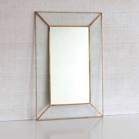 Crystal mirror with metal edge - Mirrors - Decoration | Zara Home United Kingdom