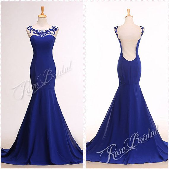 Hey, I found this really awesome Etsy listing at https://www.etsy.com/listing/212812903/mermaid-royal-blue-prom-evening-dresses