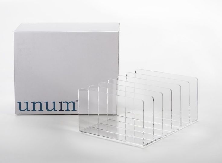 Folders Unum X-Large Clear Cast Acrylic Desktop Upscale File Sorter Holder, 13-Inch x 10.5-Inch x 6-Inch