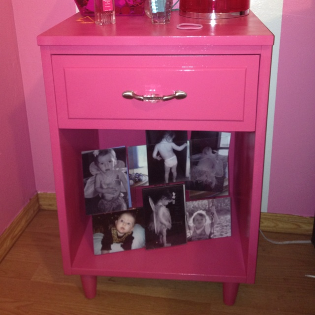 adorable used night stands find hubby cleaned sanded and reprinted them