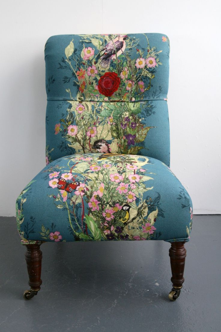 Upholstery fabric chair - Would Love This Chair Covered With Timorous Beasties Fabric