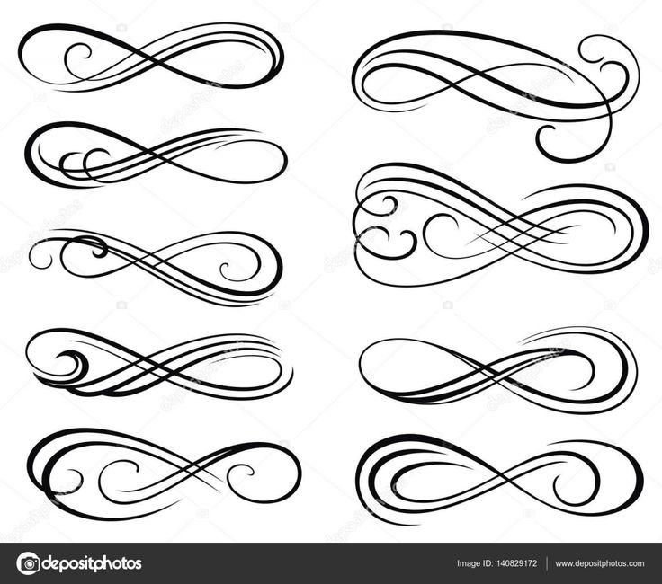 Télécharger - Éléments de vecteur tourbillon pour votre conception — Illustration #140829172