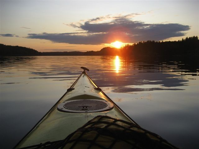 Canoeing in Linnansaari and Kolovesi National Parks. Savonlinna, Finland.