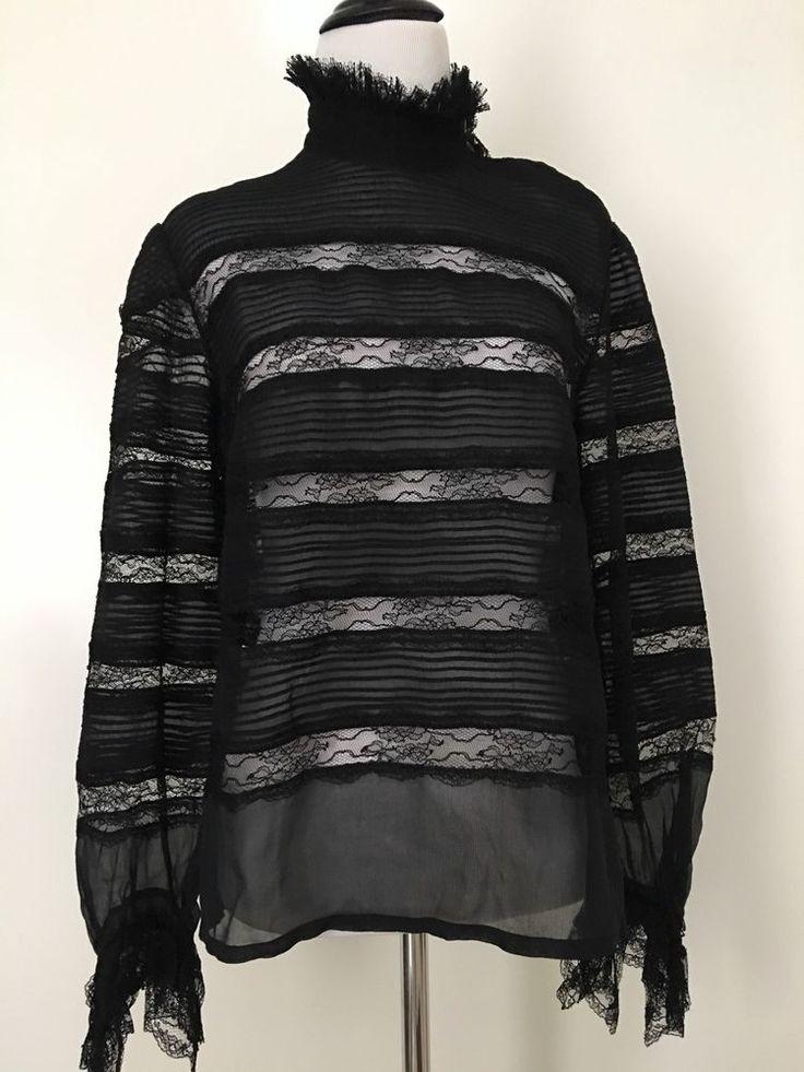 ISABEL MARANT SONDRA BLACK  SILK VICTORIAN LACE TOP 40  | eBay