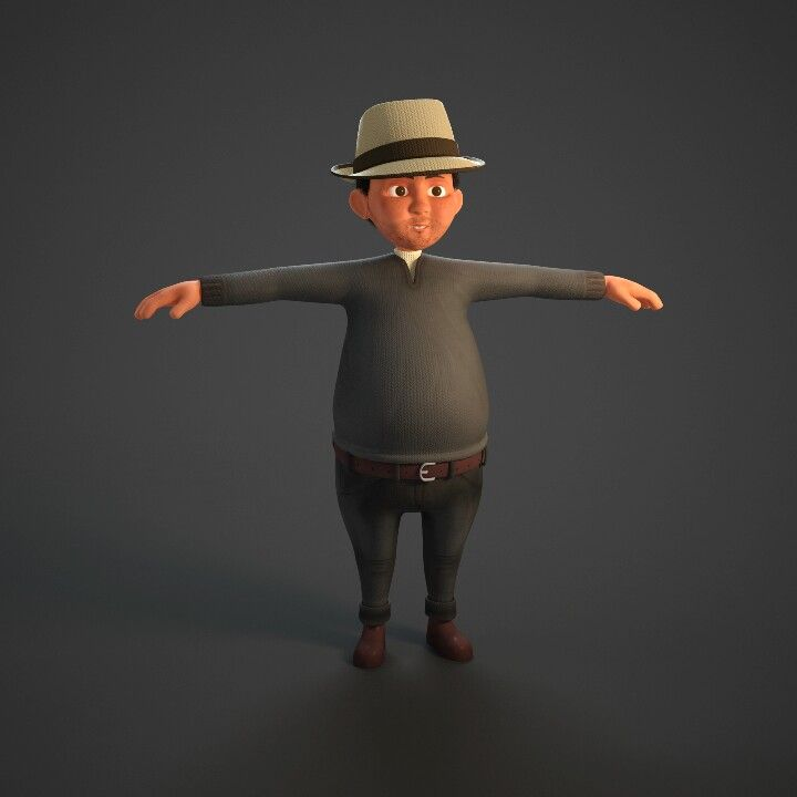 3D character modelling. Concept Character by Rahadyan Pradipta, modeller by Rahadyan Pradipta, Texture by Rahadyan Pradipta.