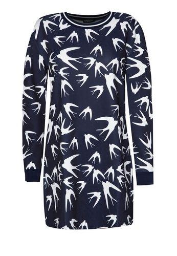 Printed Dove Sweater Dress