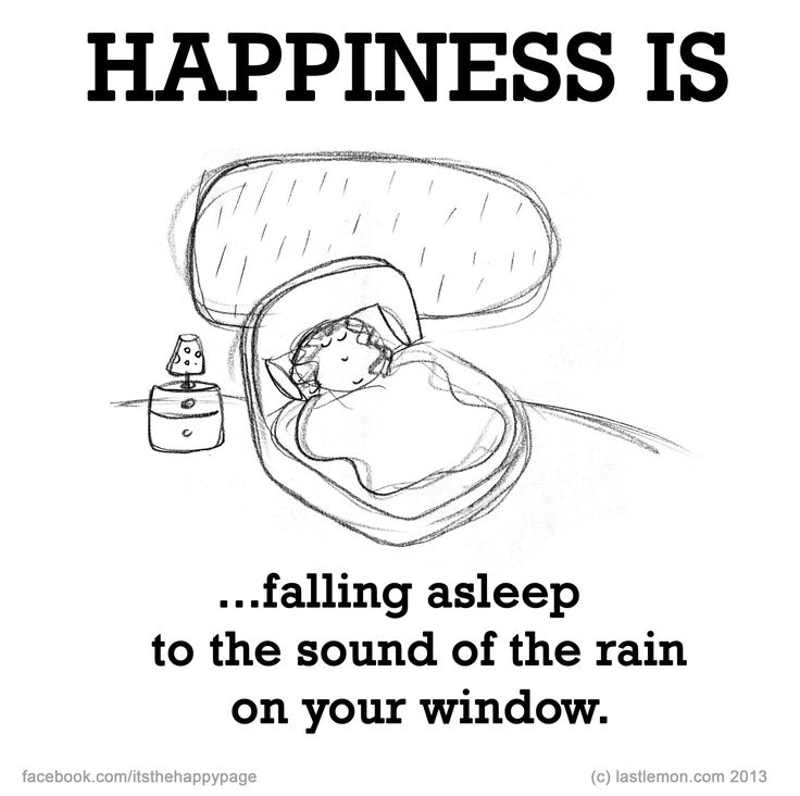 HAPPINESS IS...falling asleep to the sound of the rain on your window.