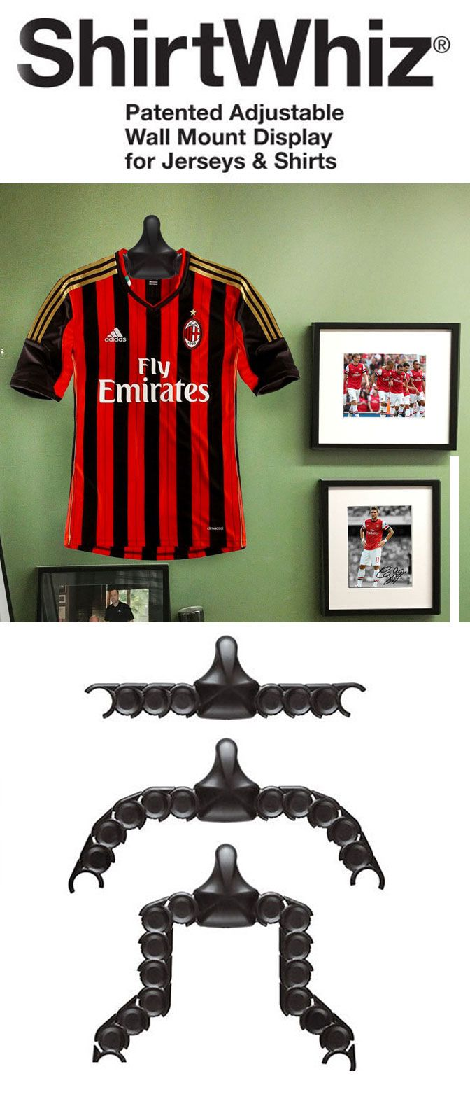 Man Cave Store New Jersey : Shirtwhiz jersey display hang any easily and