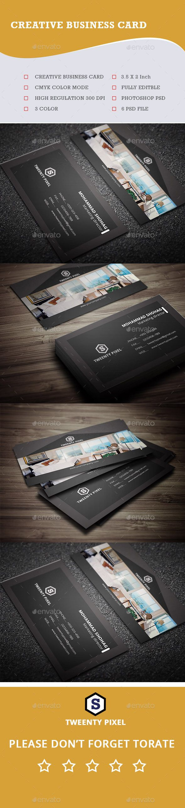 Real Estate Creative Business Card Template PSD #design Download: http://graphicriver.net/item/real-estate-creative-business-card/14163576?ref=ksioks