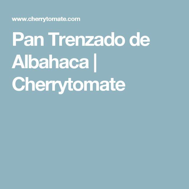 Pan Trenzado de Albahaca   Cherrytomate