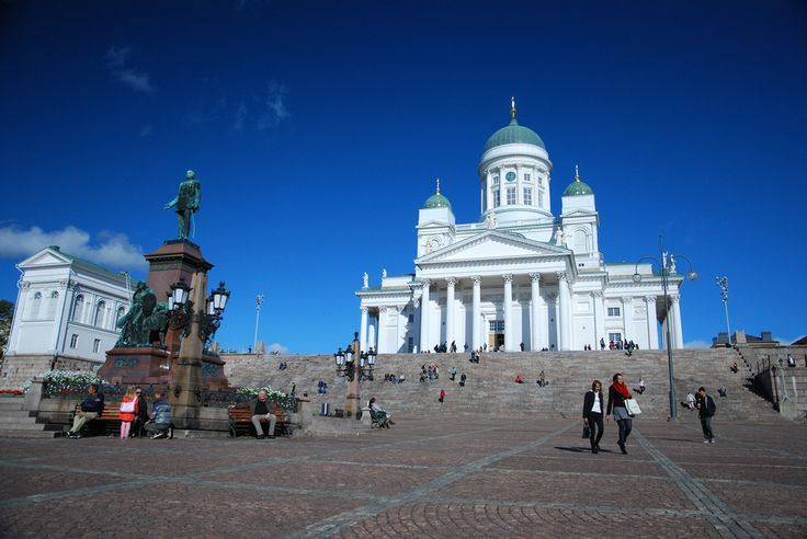 Helsinki was declared capital in 1812 to distance the Finns from the Swedes. The cathedral was finished in the 1850's.