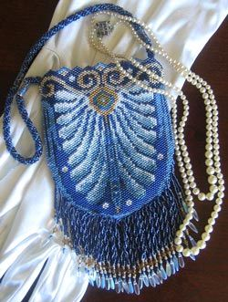 Silverhill Design - Bead Pattern for Enchanted Evening beaded bag