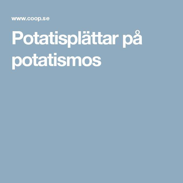 Potatisplättar på potatismos