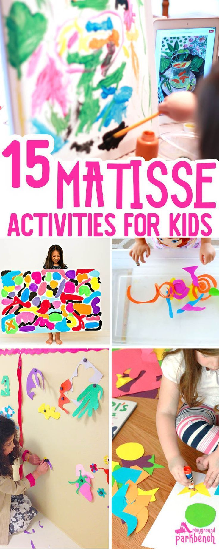 Matisse Art Projects for Kids - art and hands-on activities inspired by the bold colors and organic shapes used by Henri Matisse. An awesome Art Study for Kids of all ages | Art for Kids | Art for Preschool |
