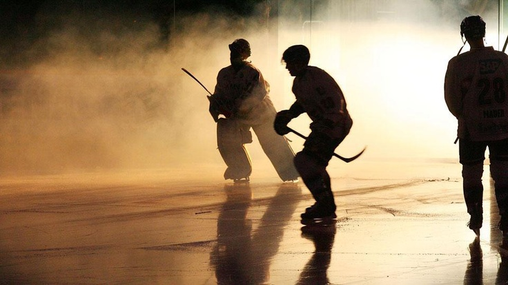 Sabres taking the ice against Adler Mannheim in an exhibition game in Mannheim, Germany October 4, 2011