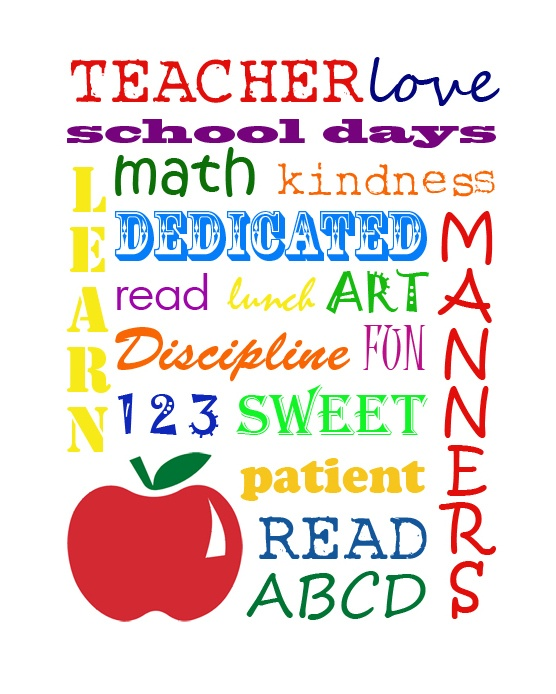 SIGnature Creations: Teacher Subway Art Free Printable ~ Last Day of School