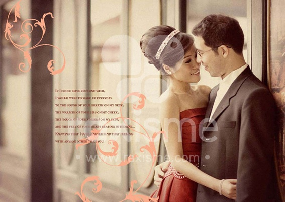 pre wedding album design by Dwi Irawati, via Behance