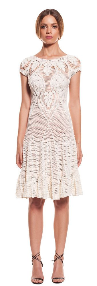 Helen Rödel white crochet dress