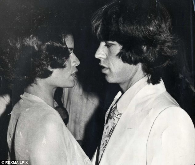 Mick Jagger with his wife Bianca at a Rolling Stones party at Blenheim Palace before their divorce in 1980