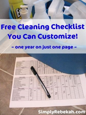 Free Cleaning Checklist You Can Customize