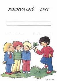 Pochvalný list - děti a čtyřlístek