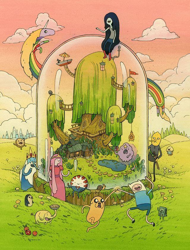 Adventure Time, eine Kunstshow, inspiriert von der Zeichentrickserie des Cartoon…