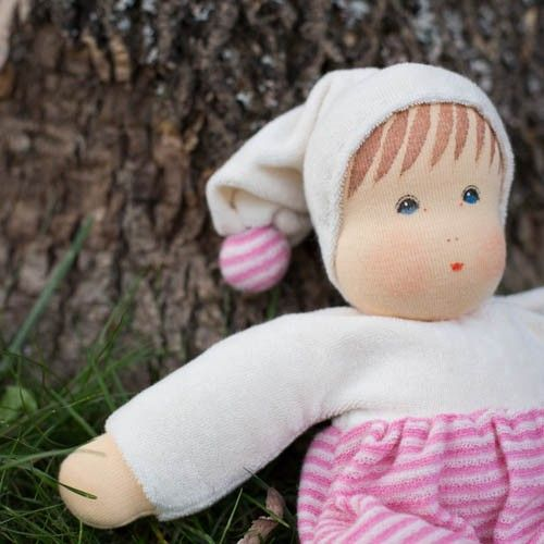 Organic Waldorf Cuddle Baby Doll - Pink: Baby Gifts, Baby Dolls, Cuddling Baby