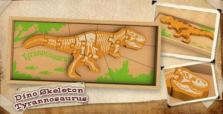 Wooden Dinosaur Puzzles Triceratops and T-Rex | White House Marketplace