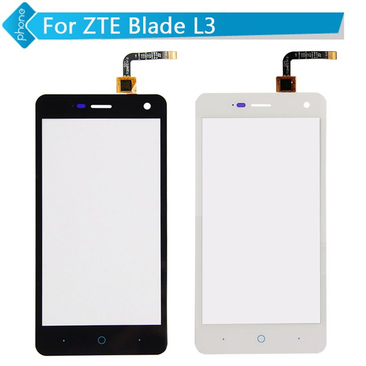 Black White 5 inch For ZTE Blade L3 Touch Screen Digitizer glass with flex cable Version 1.0