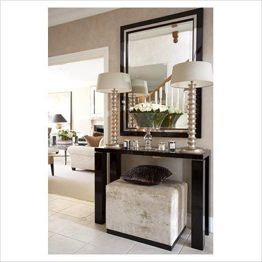 Console Table With Stools | GAP Interiors   Console Table In Classic  Hallway   Picture Library
