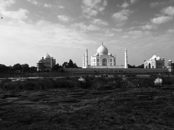 Distant view of Taj Mahal