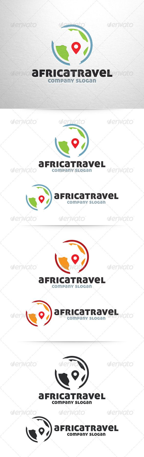 Africa Travel Logo Template