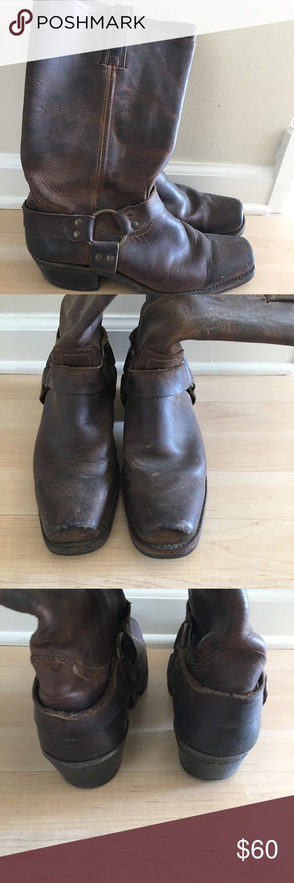 Women's Frye harness boot size 10 Perfectly broken in brown FRYE harness boot size 10 Frye Shoes