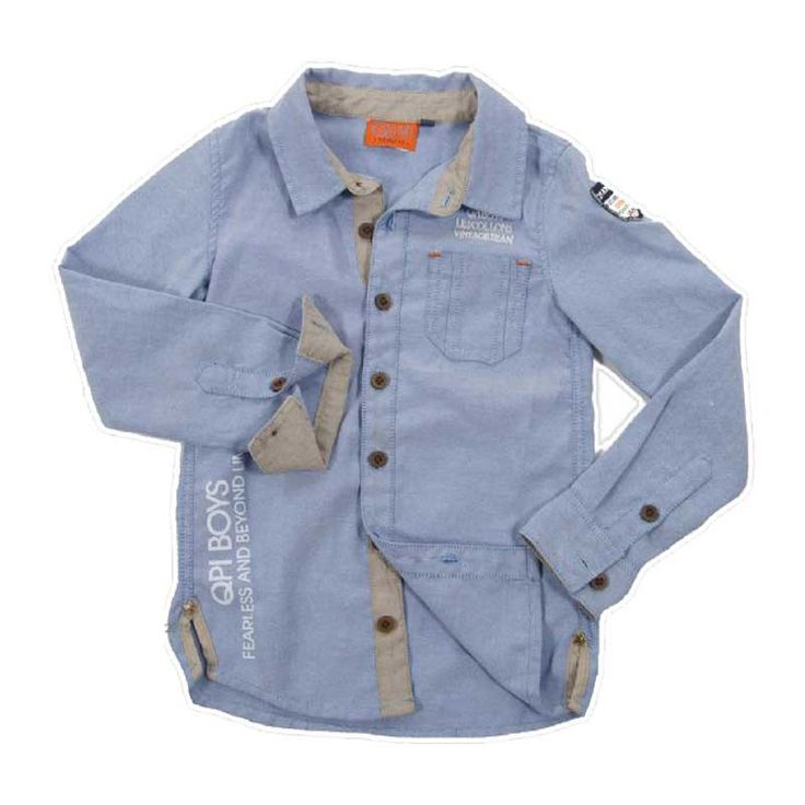 Quapi Overhemd Blauw Spijkerstof bij Minimoda. #Jongenskleding #Jongens #Kinderkleding