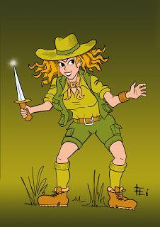 Fabrizio Lorito: Explorer girl - character design
