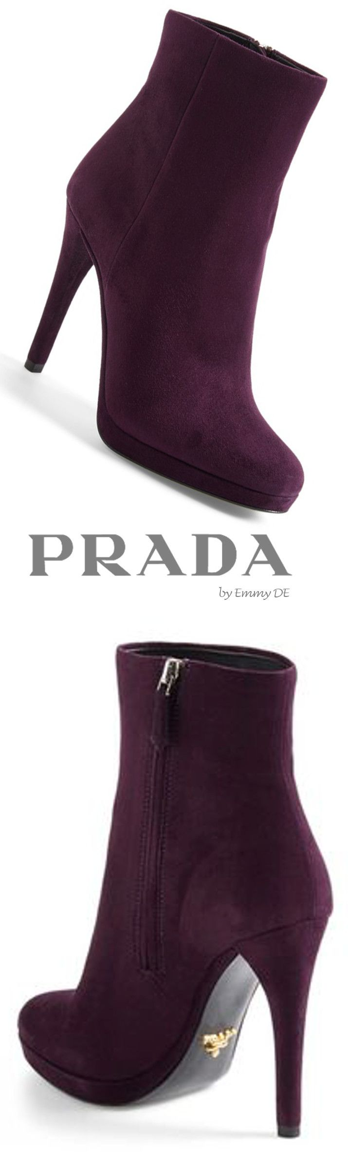 Emmy DE * Prada Mid Suede Boot  |  @  ladies boots
