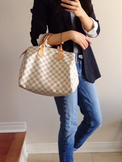Louis Vuitton  - speedy 30 in Damier Azur combined birthday and Christmas from Simey & Mum :)
