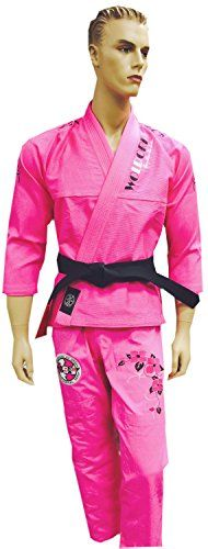 New Woldorf USA PEARL Weave PINK Jiu Jitsu Uniform for Women in Cotton. This uniform is well fitted due to its unique cut and style.It Comes with a 550 gram Jacket 12oz Cotton Ripstop twill Pants a ...