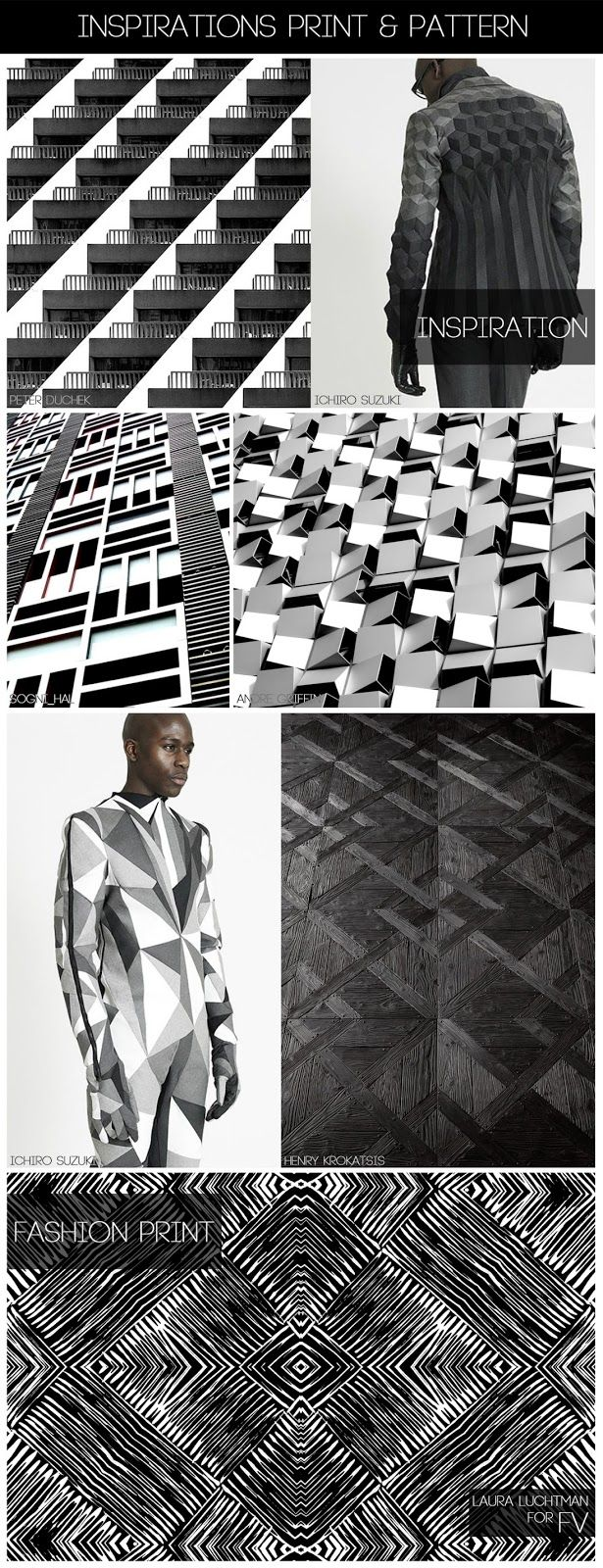 FASHION VIGNETTE: [ INSPIRATIONS PRINT + PATTERN ] KUKKA by Laura Luchtman #AW1415 #Monochrome #PrintPattern