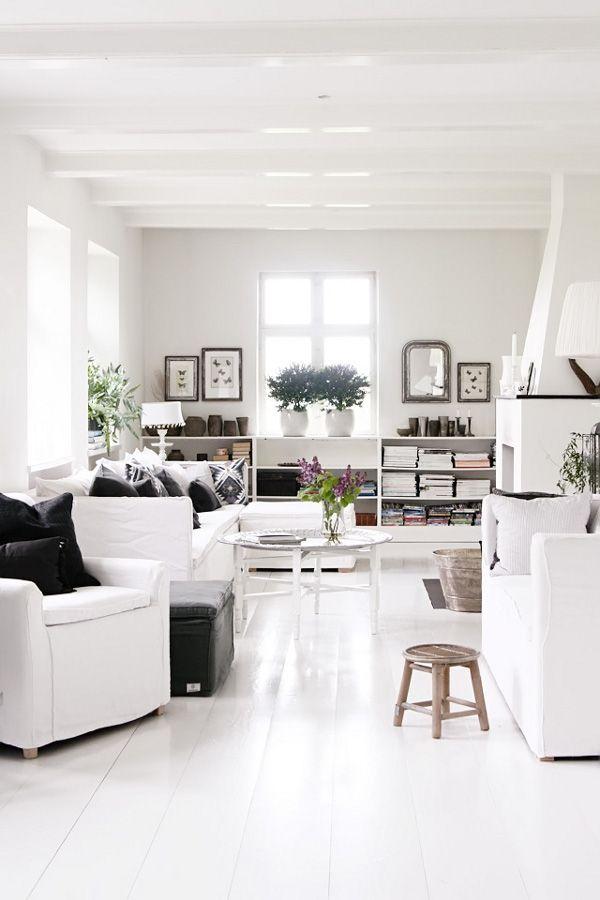 Salón en una casa danesa
