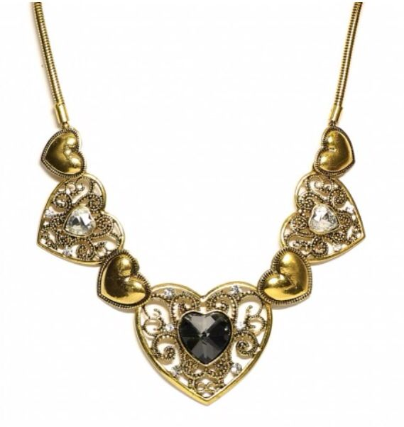 French-inspired metallic hearts with cubic zirconia