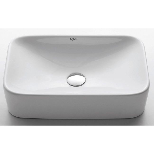 Kraus Ceramic Rectangular Bathroom Sink