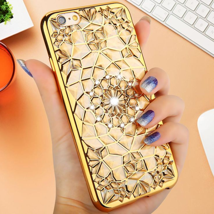 Diamond Skin covers for iphone 6 6s 6 plus 6s plus with electroplating soft back cover