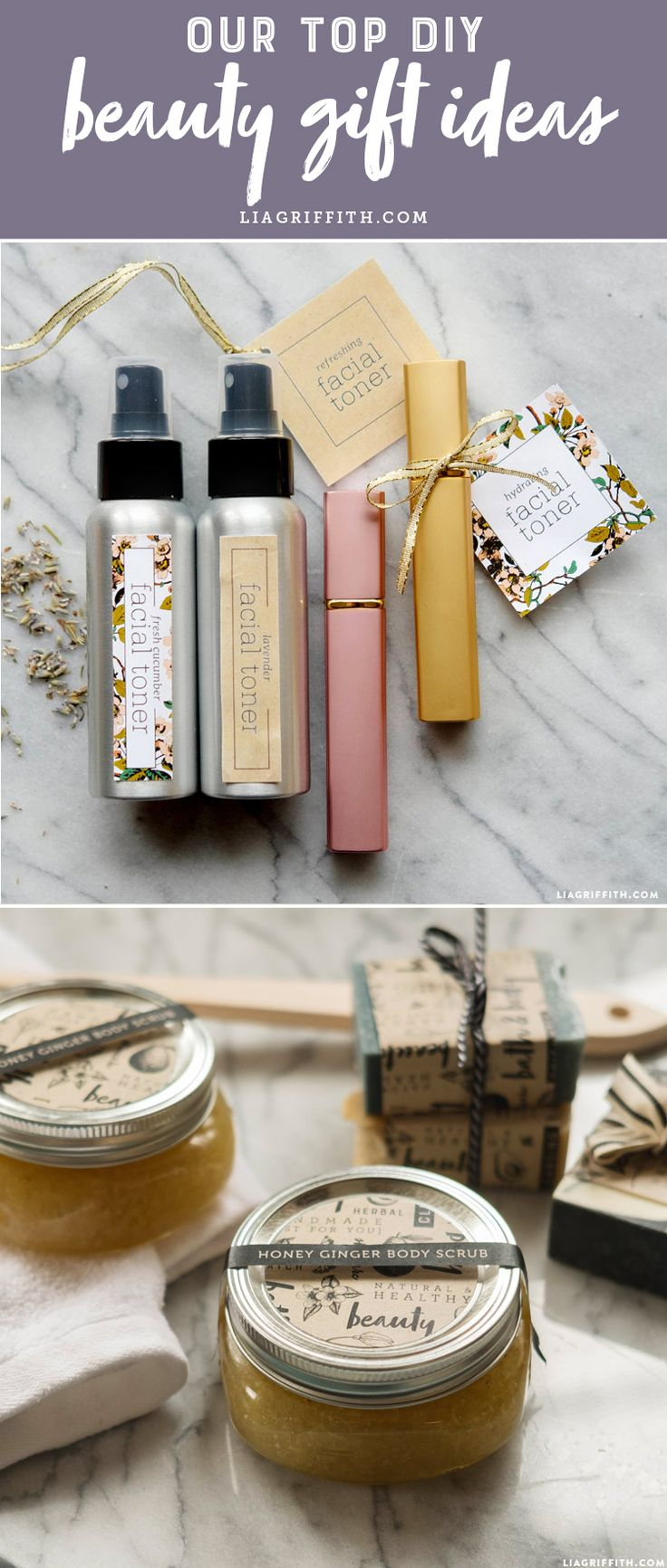 Our Top DIY Beauty Gift Ideas - Lia Griffith - www.liagriffith.com #diybeauty #diygift #diygifts #madewithlia