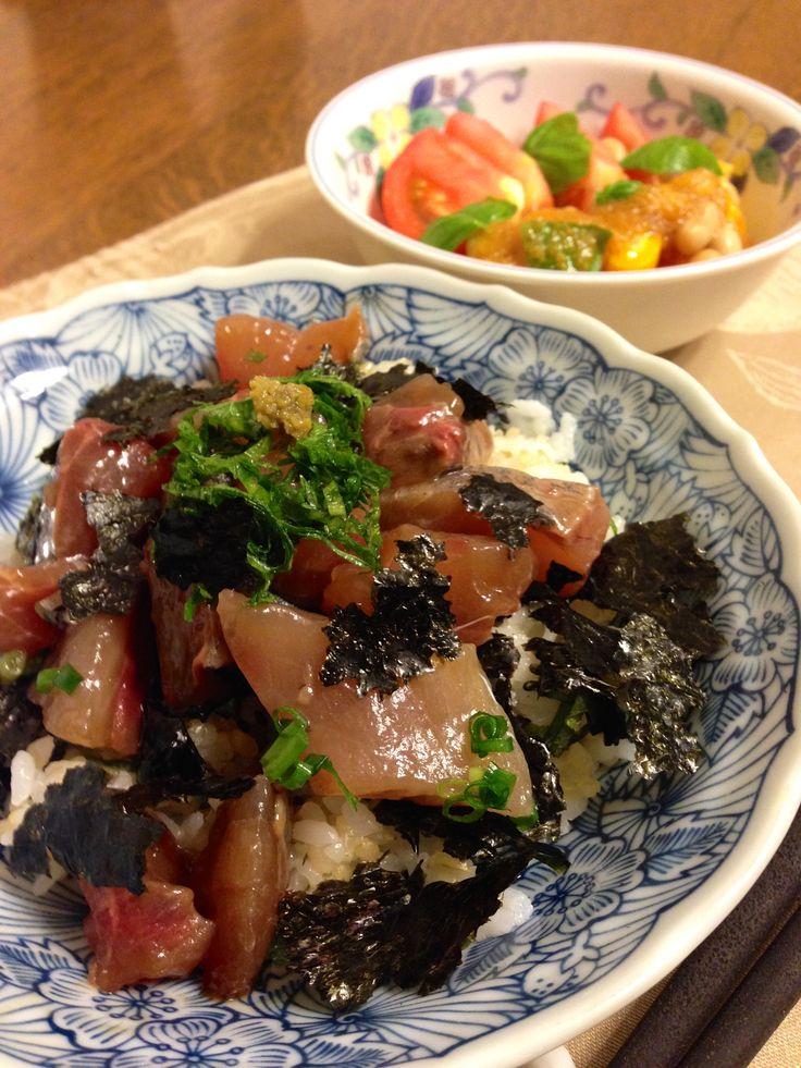 鯵のヅケ丼 柚子胡椒風味