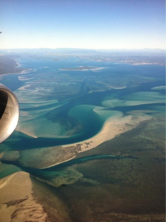 Spectacular ariel view of Moreton Bay